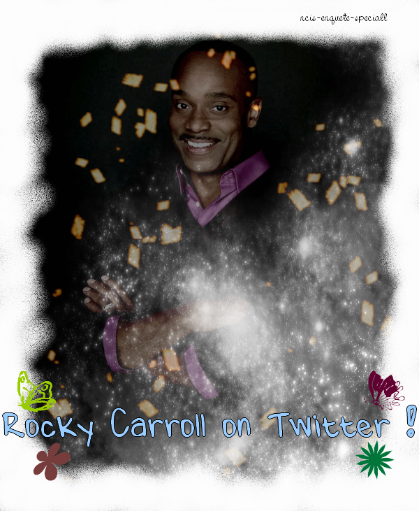 Rocky Carroll : Maintenant sur Twitter !