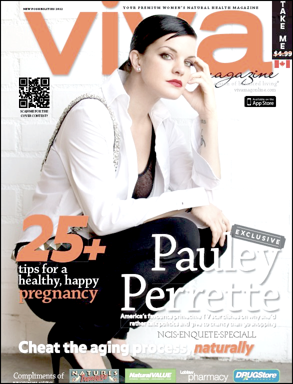 Pauley Perrette : En couverture pour Viva Magazine - Mars 2012