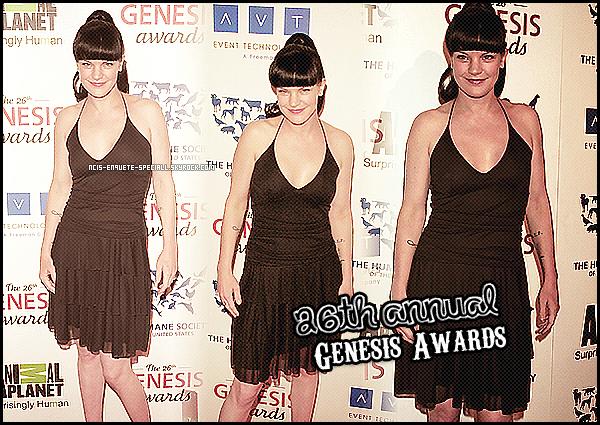Pauley Perrette : 26th Annual Genesis Awards - 24/03/2012