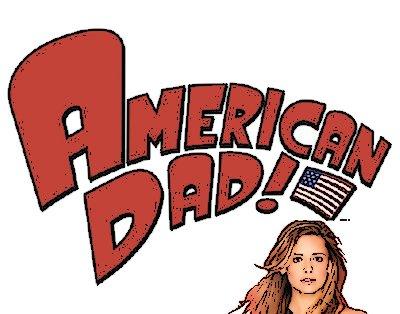 """Sarah dans """"  Américan Dad """""""