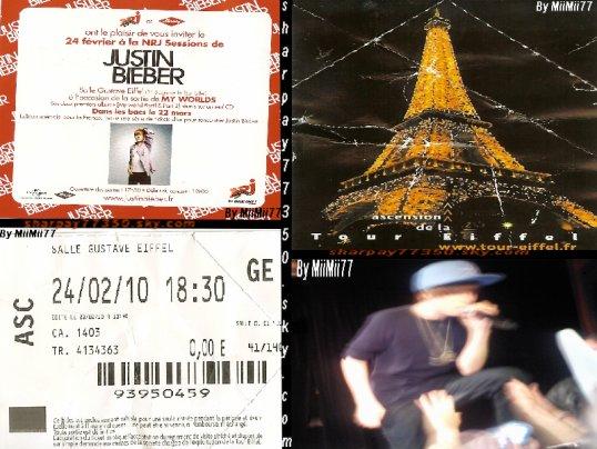 24/02/2010  $)   CONCERT  PRIVE DE JUSTIN BIEBER A LA TOUR EIFFEL !
