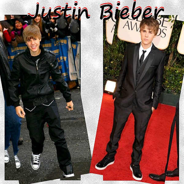 Tu préfère Justin Bieber Décontractée ou Justin Bieber Costard ?