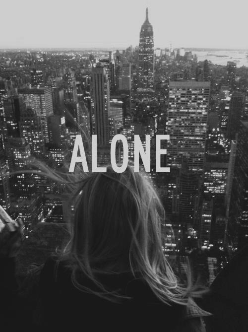 I FEEL ALONE, only you can save me.