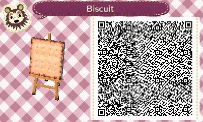 ACNL QRCODE Biscuit + Comment faire des biscuits?