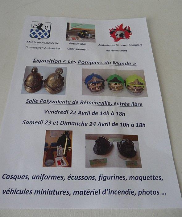 éxposition de ma collection à Réméréville Meurthe et Moselle...avril 2016