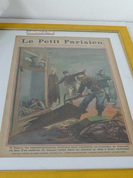 Casque  modèle 1895 de Nancy avec article du Petit Parisien