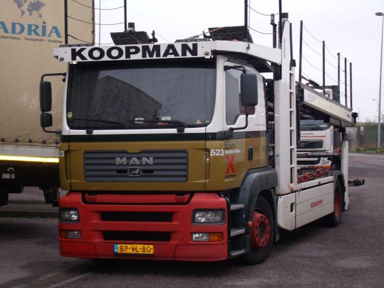 MAN TGA TRANSPORT  KOOPMAN