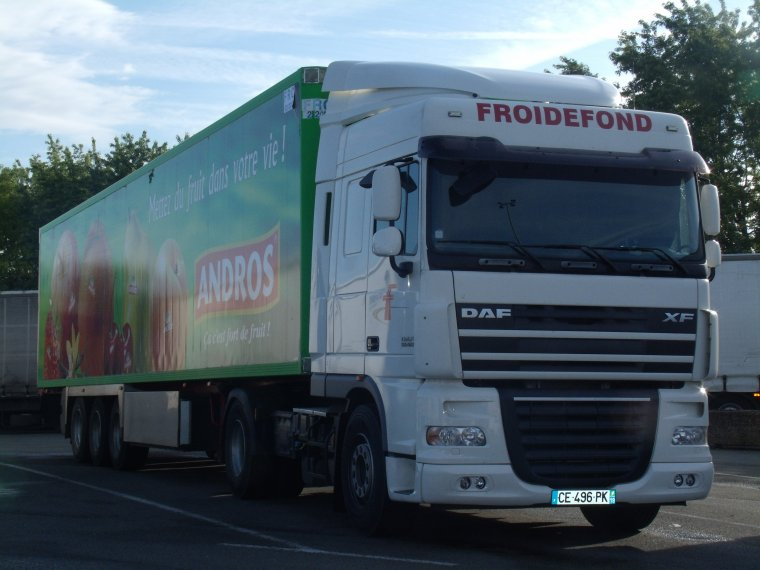 DAF XF 105 TRANSPORT FROIDEFOND