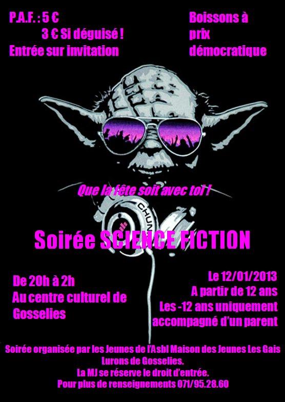Affiche Soirée jeunes janvier 2013