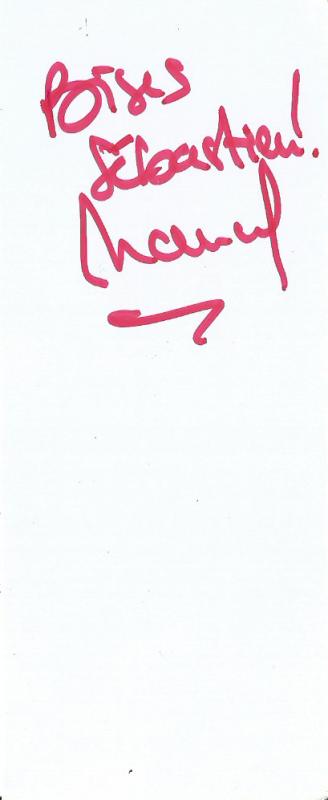Autographe reçus le ? et le ? et le 13 juillet 2014