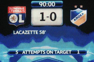 Olympique Lyonnais 1-0 Apoël Nicosie 8ème de finale, aller de la Ligue des Champions à 20h45 sur Canal +