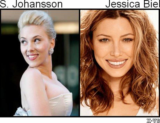 Scarlette Johansson V.S Jessica Biel