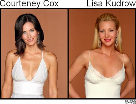 Courteney Cox Arquette V.S Lisa Kudrow
