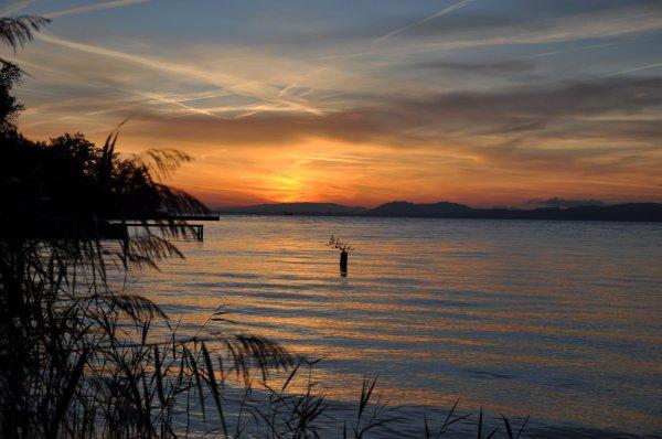 lever de soleil sur le lac !!