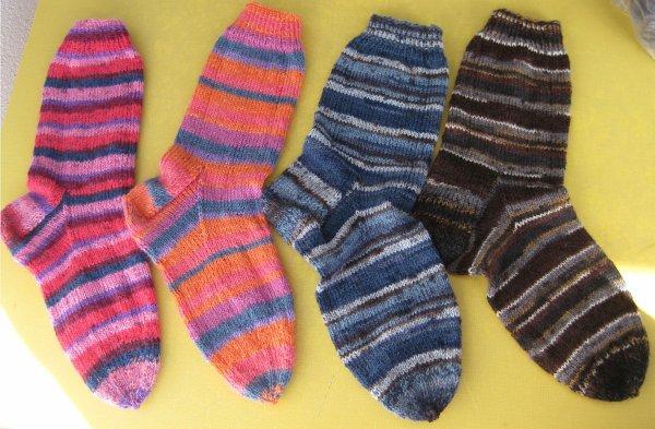 4 dernières paires chaussettes