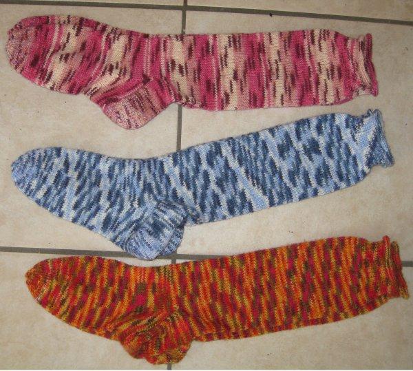 3 paires de longues chaussettes