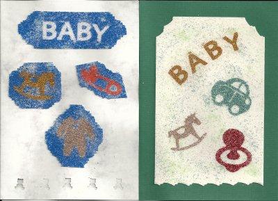 cartes de sable naissance