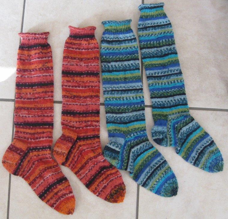 commande longues chaussettes