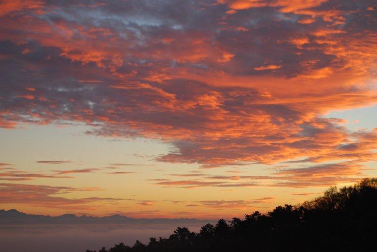 coucher de soleil !