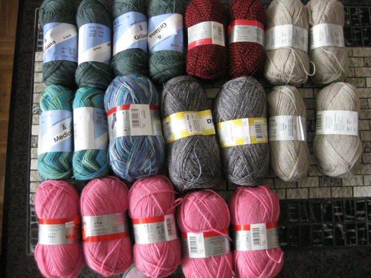 mes achats de laine