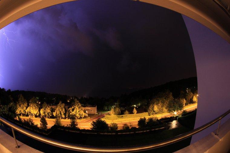 des orages !
