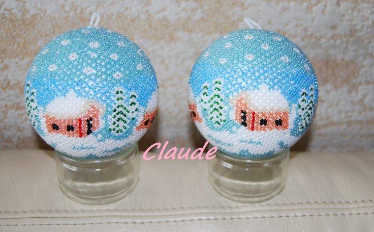 Deux boules 10 cm