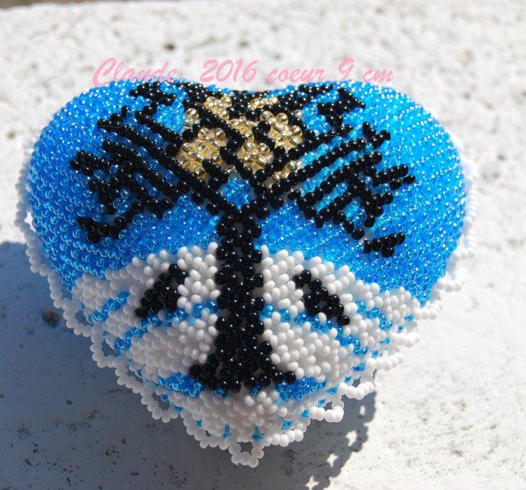 ensemble en perles motif arbre en hiver