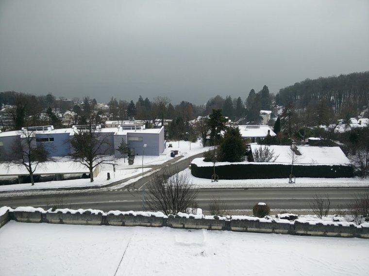 voici la vue avec la neige