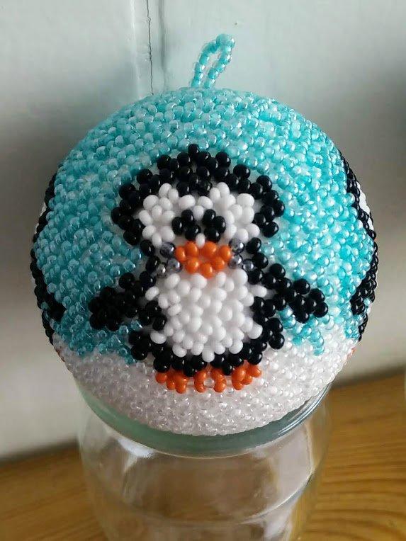boule pingouin 6 cm