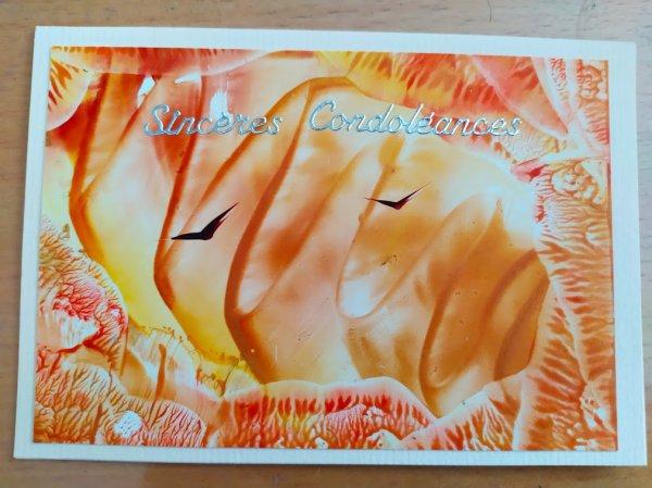 cartes à l'encaustique 23 condoléances
