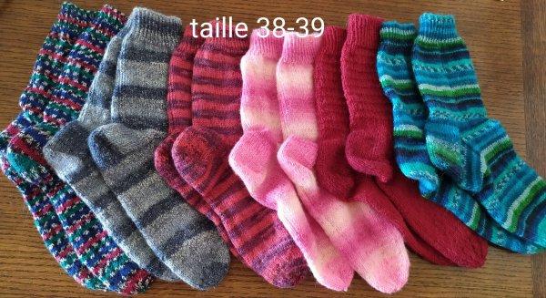 des chaussettes pour toutes les tailles ou presque !