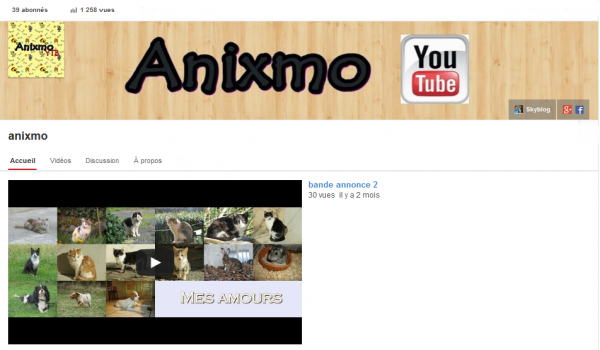 Ma chaine youtube :