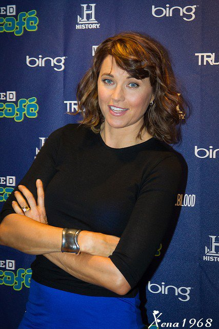 LUCY  LAWLESS - ATTENDS  DAY  3  OF  WIRED  CAFE  AT  COMIC - CON  23.07.2011