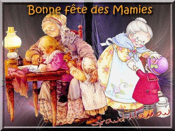 BONNE  FÊTE  A  TOUTES  LES  MAMIES  DU  MONDE  ENTIER!