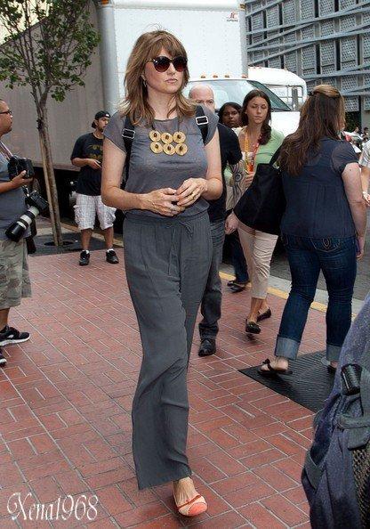 LUCY  LAWLESS  ARRIVE  A  COMIC  CON  DE  SAN  DIEGO : SPARTACUS LE 13/07/2012