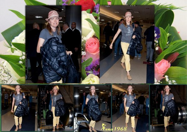 LUCY  LAWLESS  ARRIVE  A  LOS  ANGELES