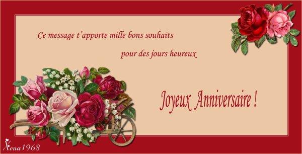 JOYEUX  ANNIVERSAIRE  MARYSE (cadeau pour toi mon amie)