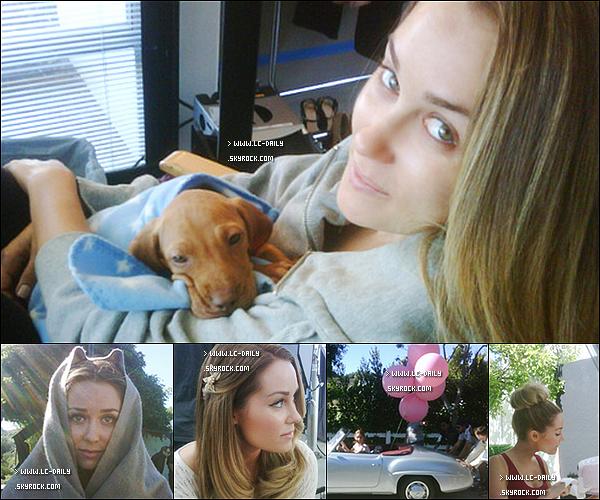 . 31 Mai 2011 : Des photos personnelles de Lauren dans les coulisses pour le shoot de Kolh's.  .