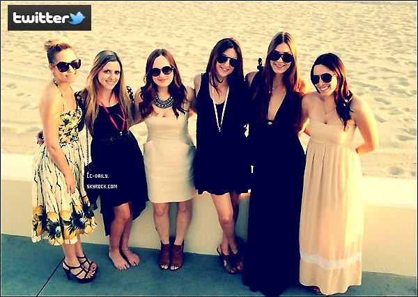 . 08 Mars 2012 : Lauren et ces bf sur la plage à de l'enterrement de vie de jeune fille d'une amie. .