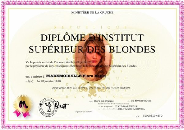 blonde, oui mais intelligente :p