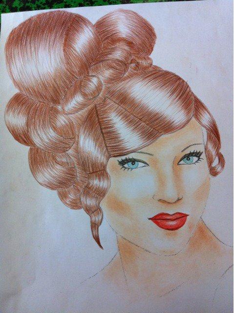dessin coiffure 5