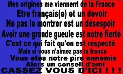 fier d'être français(e) =)