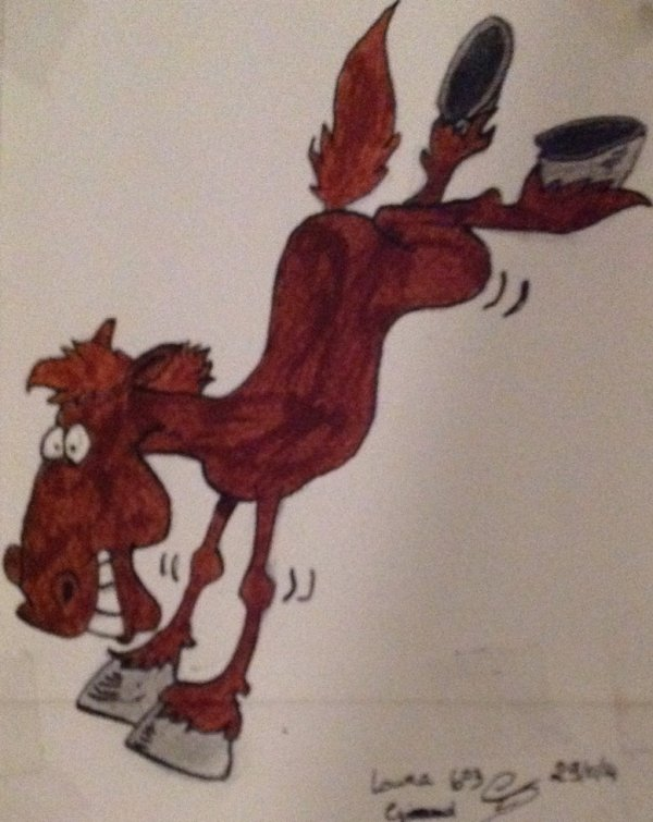Petit dessin de cheval cartoon
