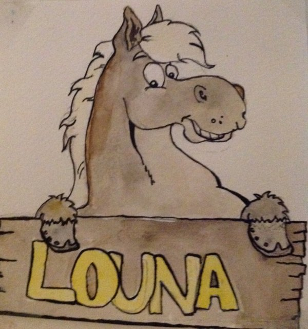 Encore un cheval cartoon