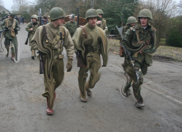 On the footsteps of the 82nd US Airborne 2011 in Manhay