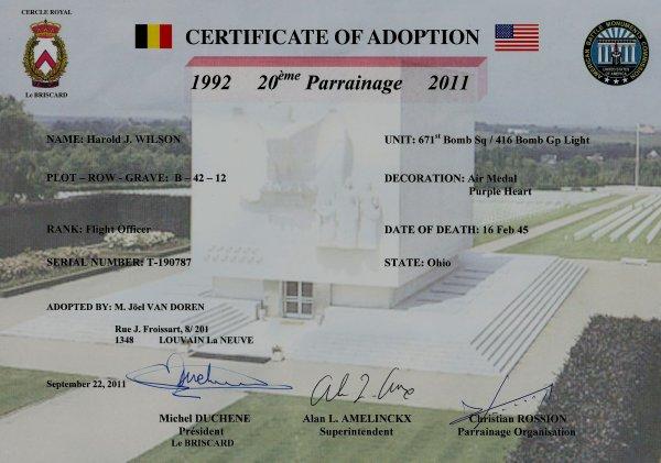 Parrainage tombes US 2011