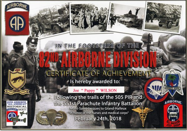 In the Footsteps of the 82nd AB Division 2018  FIN