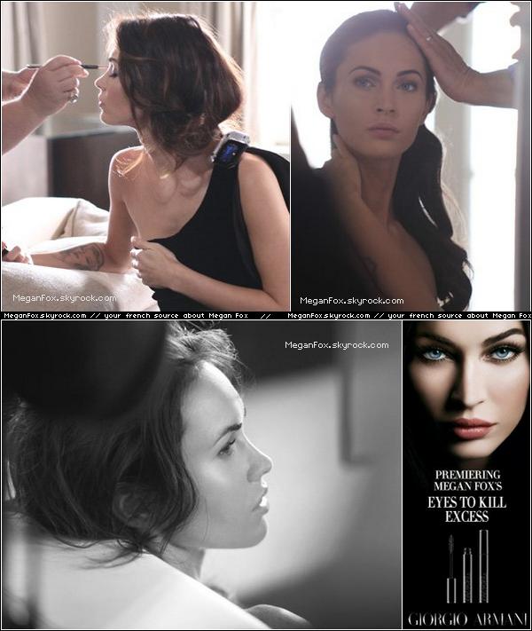 88 Voici des photos exclusives de Megan pour la prochaine campagne Armani .  88