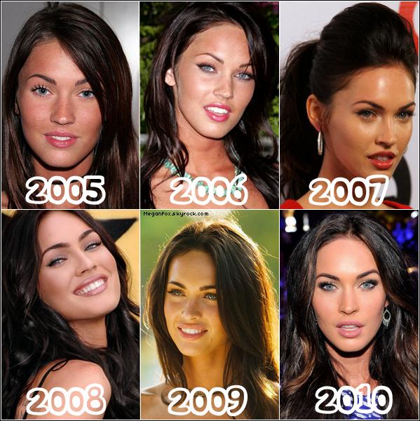 88 2005 , 2007 , 2010 .. En quelle année préfères-tu Megan ?  88