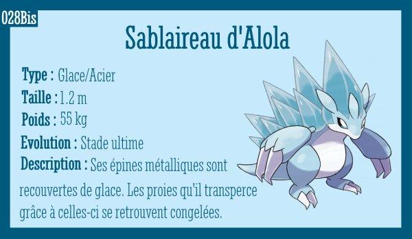 Sabelette d'Alola et Sablaireau d'Alola